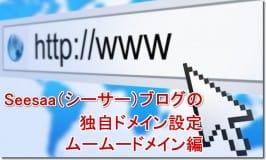 Seesaa(シーサー)ブログの独自ドメイン設定